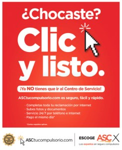 "The new service is backed by a $500,000 advertising campaign, ""Clic y listo."""