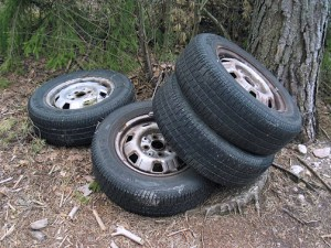 This year Toyota Foundation is interested in proposals aimed at solving the issue of tire disposal or tire recycling. (Credit: Wikipedia)