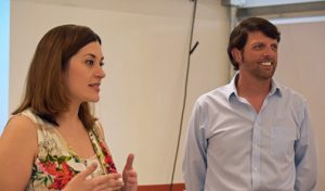 Laura Cantero and Troy Knauss participate in the SPRINGOBOARD event that took place over the weekend.