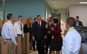 Gov. García-Padilla tours Lockheed Martin's new Aguadilla campus.