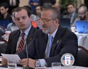 PRMA President Rodrigo Masses presents the trade group's opinions on the Fiscal Plan during Friday's Oversight Board meeting.