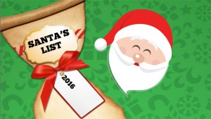 "The ""Santa's List 2016"" study surveyed 1,200 people."