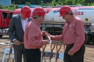 From left: Secretary of State Víctor Suárez, Francisco Pérez-Corujo of Suiza Dairy, and Jorge Rodríguez and Grupo Gloria.