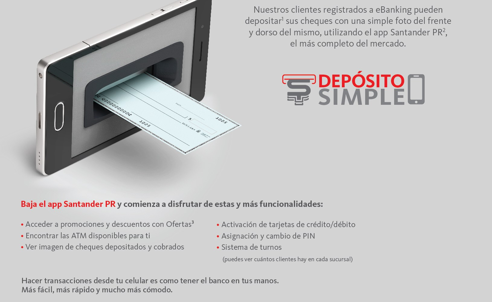 santander launches depósito simple mobile check deposit service