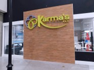 Karma's has a capacity for 380 customers, a wine bar, a beer garden, and cigar room.