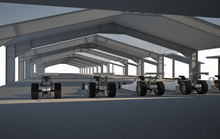An electric drag racing complex is under construction outside the mall, to appeal to customers with a need for speed.