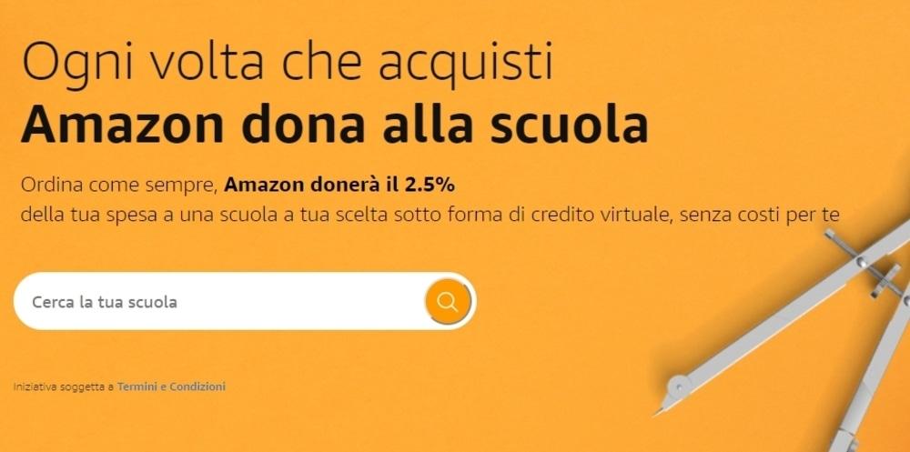 Un click per la Scuola, per ogni acquisto su Amazon il 2.5% alle scuole