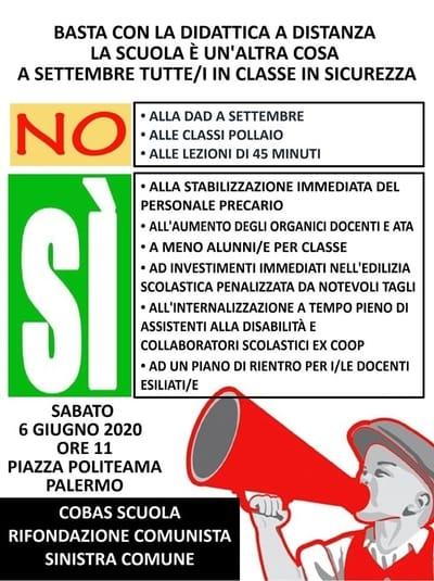 Cobas Palermo 6 giugno