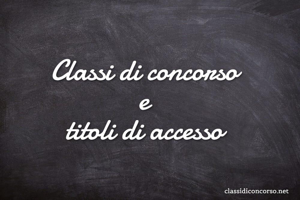 Classi di concorso CDC: titoli di accesso per l'insegnamento