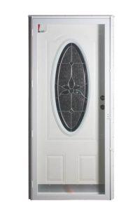 Six Panel Steel 3/4 Oval Combo Door