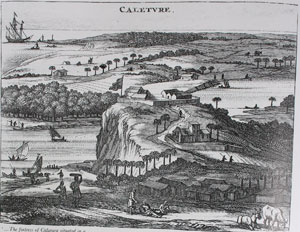 The engraving from Baldaeus, 1672, attempts to give an impression of the old Portguese fort