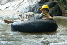 Tubing on the Manik River