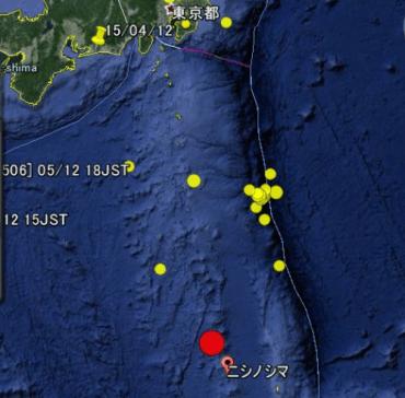 小笠原諸島 地震 地図 震源4