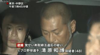 清原和博 逮捕画像 覚せい剤所持の疑い