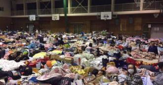 熊本 地震 避難所 学校画像