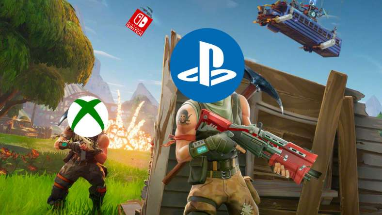 the newest fortnite update for consoles enables cross play by default allowing xbox one and playstation 4 players to be entered in the same matchmaking - xbox cross platform fortnite