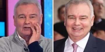 Eamonn Holmes suffers embarrassing autocorrect gaffe as he asks 'please forgive' me