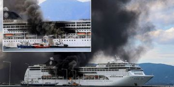 MSC Cruises confirm ship fire started in lifeboat but everyone onboard is safe