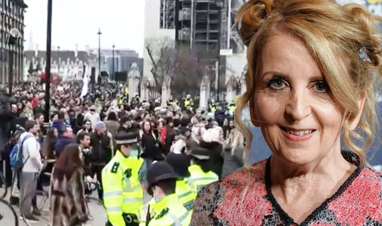 Gillian McKeith blasted for 'self-indulgent' support of anti-lockdown protests in London