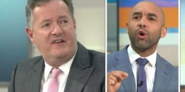 Piers Morgan hits out at Alex Beresford after getting messages from all GMB stars but him
