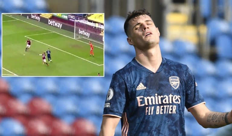 'Never seen anything like it': Fans in disbelief at astounding goal blunder from Arsenal midfielder Xhaka (VIDEO)