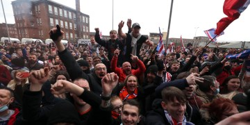 WATCH: Overjoyed Rangers fans flout Scotland lockdown rules as they stand on brink of first title in 10 years