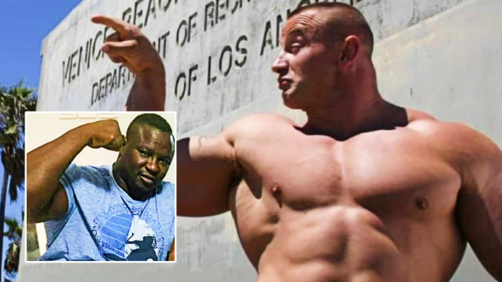 'Can the cage hold them?' Monster MMA hulks Pudzianowski & Bombardier face off for first time ahead of clash of the giants (VIDEO)