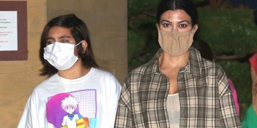 Mason Disick, 11, Is Nearly As Tall As Mom Kourtney Kardashian In New Malibu Dinner Pic