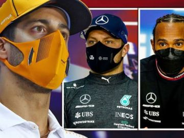 Daniel Ricciardo takes aim at Lewis Hamilton and Valtteri Bottas
