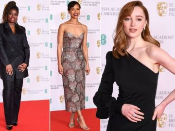 BAFTA best dressed led by Bridgerton's Phoebe Dynevor as stars pose on red carpet