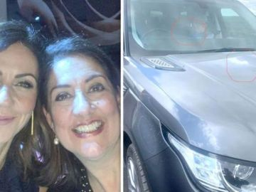 Julia Bradbury's sister careers off road after '3 young'uns throw huge rock onto motorway'