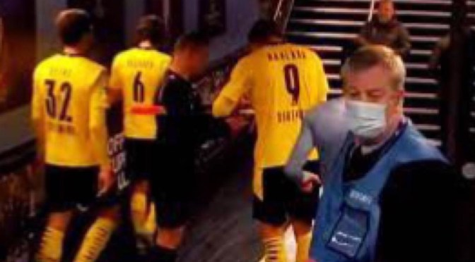 Romanian linesman who asked Dortmund ace Haaland for autograph 'taken off duty' following controversy