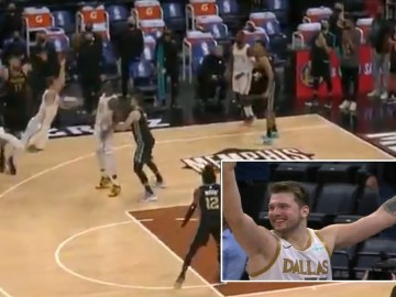 'You cannot be serious?!' NBA star Doncic sinks barely-believable buzzer-beating 3-pointer to leave LeBron astounded (VIDEO)