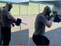 Sharpshooter: UFC superstar Chimaev takes to firing range with heavy weaponry ahead of octagon return (VIDEO)