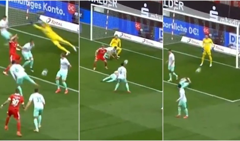 Third time unlucky: Bremen's Friedl takes unfortunate hat-trick of rapid-fire hits in Bundesliga clash (VIDEO)