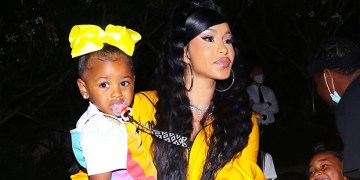 Cardi B's Daughter Kulture, 3, Draws On Offset's $1800 Moncler Jacket With Red Crayon Then Dozes Off