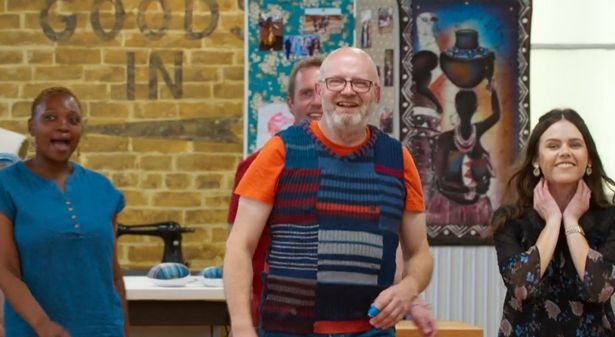 Great British Sewing Bee recycle week sees Andrew impress with sock tank top