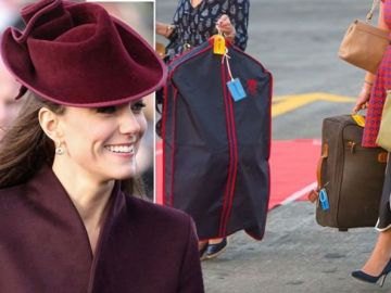 Royal protocol means Kate Middleton must pack as many as '20 suitcases for three-day trip'