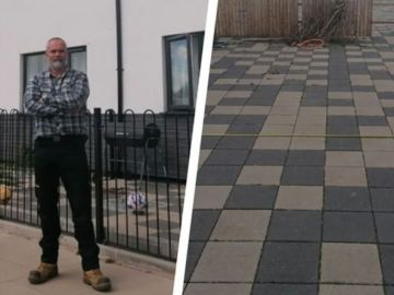 Fury as man's private garden paved over by Labour run council