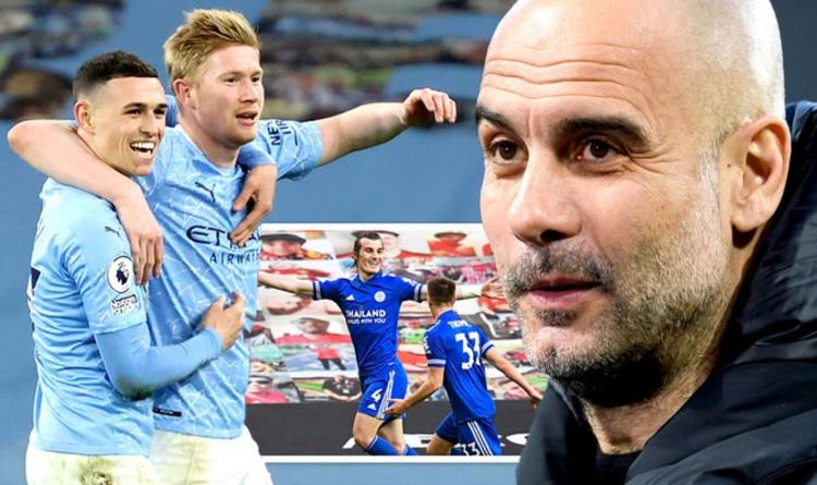 Man City crowned Premier League champions as Man Utd surrender title with Leicester defeat