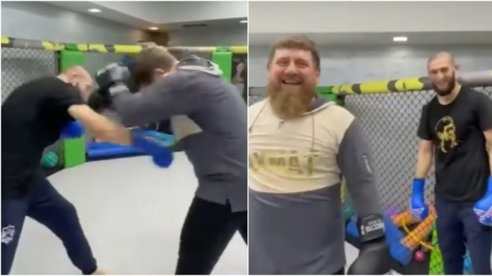 Chimaev spars Chechen leader Kadyrov as manager