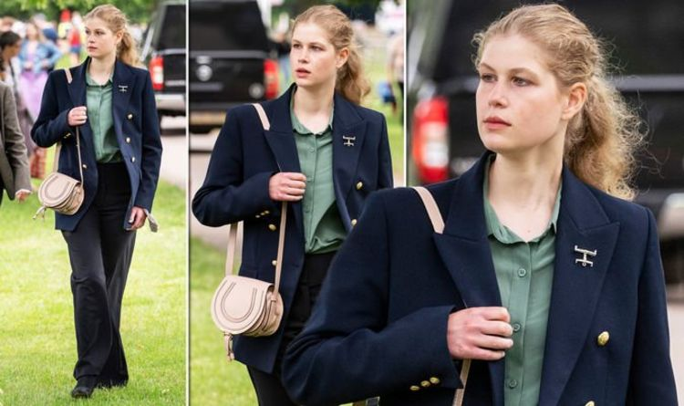 'Growing up to be beautiful young woman' Lady Louise Windsor wears Philip's jacket at show