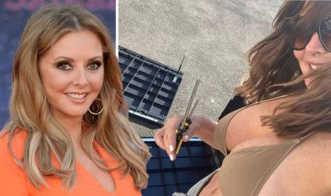 Carol Vorderman (60) shows off her cleavage with eye-catching bikini photos as the temperatures rise