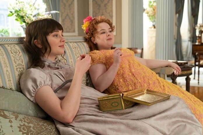 In the first season, Penelope and Eloise discover the identity of Lady Whistledown.  netflix photo