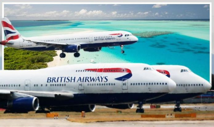 British Airways launches its summer sale, with flights beginning at 00:00 PS30 Europe and Caribbean