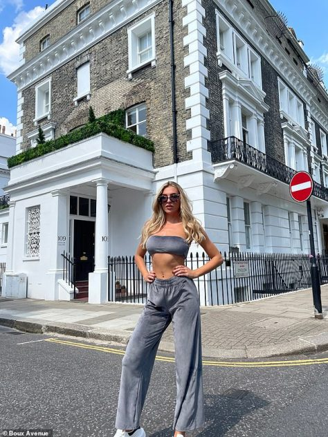 Confident: In another shot, where Zara gave her best power pose for the lens, she placed her hands firmly on her waist, smoldering in an oversized pair of shades