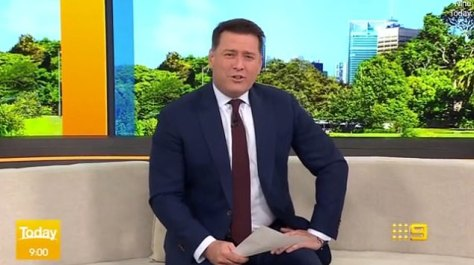 Special day: During Thursday's Today show, Karl was subjected to an early-morning roasting