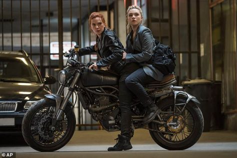 Anemic profits: Although Johansson may get pay based on Disney+ rentals, the rental price would have been cheaper for families than going to a theater, which may still cut into her earnings; featured with Florence Pugh (R) in Black Widow