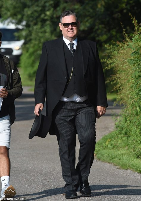 Head to toe: George Shuttleworth was also dressed smartly from head to toe