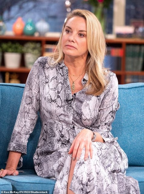 Upsetting: Tamzin Outhwaite has revealed she was left in tears after getting less money than she expected from her late mother's will (pictured 2019)